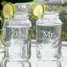 <strong>Cathys Concepts</strong> Mr. and Mrs. Ball Jar Set (Set of 2)