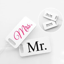 Mr. and Mrs. Personalized Tag (Set of 4)