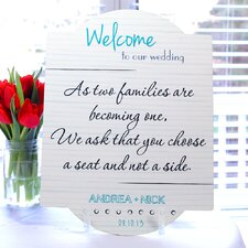 Wedding Reception Seating Chart Sign