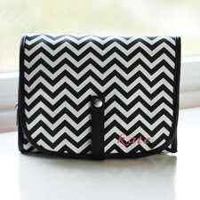 Hanging Cosmetic Bag and Grooming Kit with Block Monogram