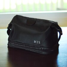 <strong>Cathys Concepts</strong> Men's Toiletry Bag and Grooming Kit with 3 Initials