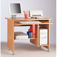 Computer-Schreibtisch mit gebremsten Rollen