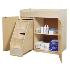 <strong>Steffy Wood Products</strong> Changing Table with Slide-Out Steps
