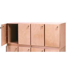 4-Section  Stackable Locker