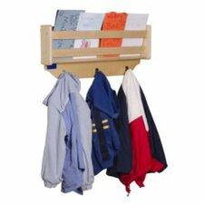 "24"" Wall Mount Coat Rack with Paper Storage"