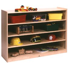 <strong>Steffy Wood Products</strong> Mobile Adjustable Shelf Storage Unit