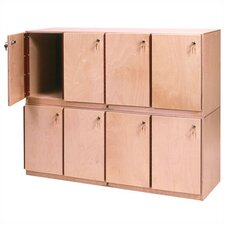 <strong>Steffy Wood Products</strong> Stackable Locker Unit