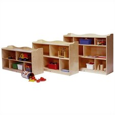 <strong>Steffy Wood Products</strong> Scalloped Mobile Toddler Storage Unit