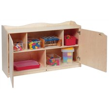 Scalloped Mobile Toddler Storage Unit with Doors