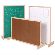 Two-Position Room Divider 2.67' x 4' Bulletin Board