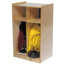 Two-Section Toddler Locker Unit