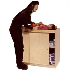 Complete Changing Table with Plywood Doors