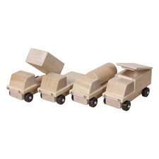 Maple Transportation 4 Piece Truck Set