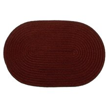 Solid Burgundy Indoor/Outdoor Rug