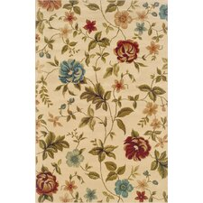 <strong>Boylston Industries</strong> Harrison Ivory/Green Floral Rug