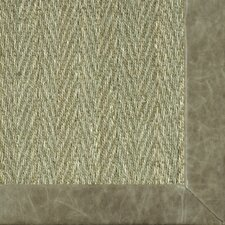 <strong>Fibreworks</strong> Botanical Blends Hacienda Herringbone Leather Pasture Bordered Rug