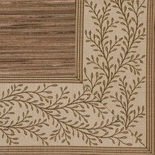 <strong>Fibreworks</strong> Cheena Dynasty Latte Vine Bordered Rug