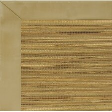 Cheena Dynasty Smooth Leather Husk Bordered Rug