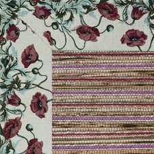 Cheena Heritage Poppies Bordered Rug