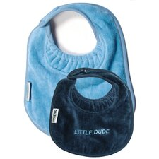 Boy Bib 2 Pack in Bling Navy / Pale Blue