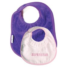 Girl Bib 2 Pack in Bling Pink / Purple