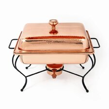 Copper 4 Qt Rectangle Plated Chafing Dish