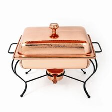 Copper 6 Qt Rectangle Plated Chafing Dish