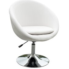 <strong>International Design USA</strong> Barrel Adjustable Swivel Leisure Side Chair