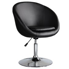 Barrel Adjustable Swivel Leisure Side Chair