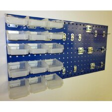 Locboard 12 Hook and 15 Bin Kit