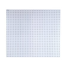 LocBoard (2) 24 In. W x 42-1/2 In. H x 9/16 In. D White Epoxy, 18 Gauge Steel Square Hole Pegboards