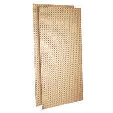 Tempered (2) 24 In. W x 48 In. H x 1/4 In. D Heavy Duty Commercial Grade Tempered Round Hole Pegboards