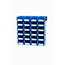 Wall Storage Unit with Interlocking Bins