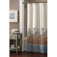 Shells Ashore Polyester Shower Curtain