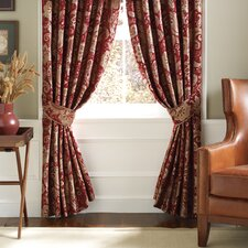 Mystique Polyester Rod Pocket Drape Panel  with Tiebacks (Set of 2)
