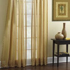 Tanzania Polyester Rod Pocket Sheer Curtain Panel (Set of 2)