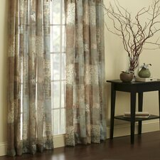 Madagascar Polyester Rod Pocket Sheer Drape Panel (Set of 2)