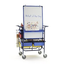 Premium Teach n' Go Cart 5.67' x 3.25' White Board
