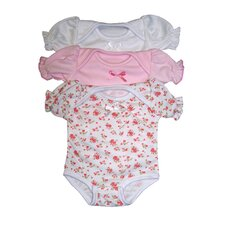 "<strong>Molly P. Originals</strong> 14"" Infant Bodysuit Assortment (Set of 3)"
