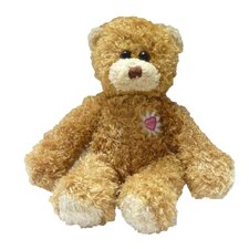 "8"" Daisy Heart Bear - Bear Only Wool Doll"