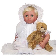 Me and Molly P. Open-Close Eye Lacy Doll with Daisy Heart Bear