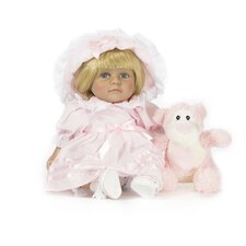 "13"" Baby Lily  Doll with Bed Time Bear"
