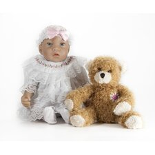 "13"" Baby Lisa Doll with Daisy Heart Bear"