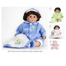 "18"" Roxanna Doll with 2 Extra Outfits and Bedtime Bear"