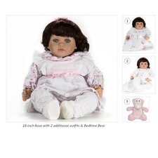 "18"" Rose Doll with 2 Extra Outfits and Bedtime Bear"