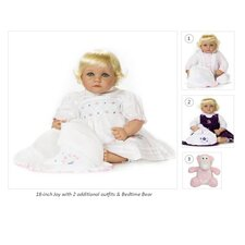 "18"" Joy Doll with 2 Extra Outfits and Bedtime Bear"