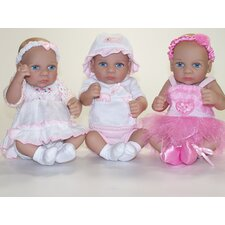 "June, Jill, & Jet 12"" Triplet Set 3 Piece Set"