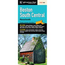 Boston South Central Massachusetts Fold Map