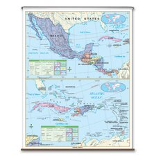 Essential Wall Map - Central America