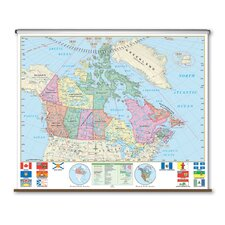 Essential Wall Map - Canada
